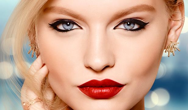 Rostro luminoso y labios sensuales